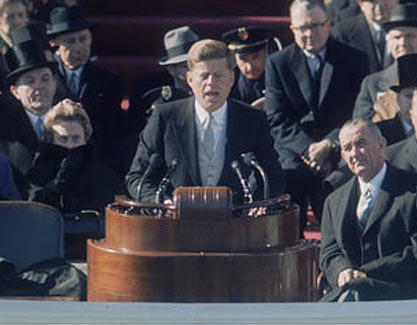 jfks inaugural address It has been reported at various places on the internet that in jfk's inaugural  address, the famous line ask not what your.