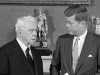 President Kennedy and Robert Frost